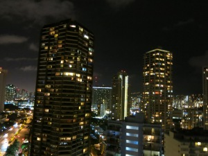 Downtown Waikiki from our room