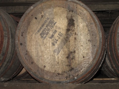 53 gallon bourbon barrel at Jim Beam