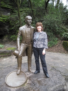Really, Jack isn't any taller than I am, but his statue is.