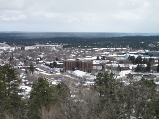 View of Flagstaff from the Lowell Observatory site