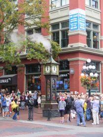 This Gastown steam clock blasts its horn every hour.