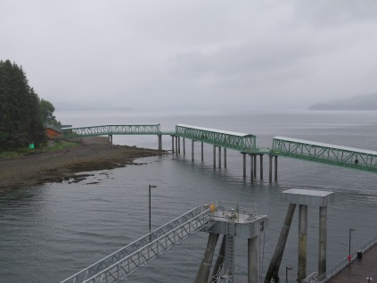 Walkway from floating dock to shore