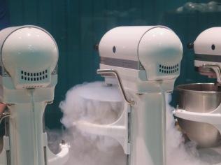 Liquid nitrogen fog