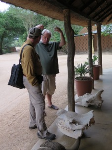 Bill Branch talking to Mark about the various skulls