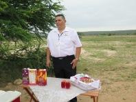 "Werner, steward, preparing ""tea"""
