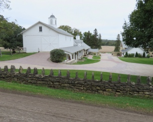 Horse stables and stone barn